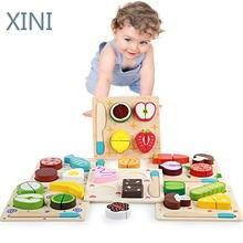 Деревянная игрушка кухонный набор фрукты овощи десерт детская