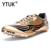 YTUK high quality Track and Field Men Women Training Athletic Shoes Professional Running Track Race Soft Shoes Sneakers