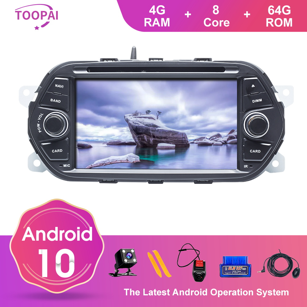 TOOPAI Android 10 For FIAT EGEA TIPO 2005 GPS Navigation Multimedia Player Auto Radio Stereo Head Unit DVD CD 4GB 64GB 8Core image