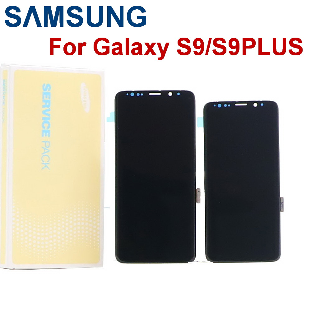ORIGINAL SUPER <font><b>AMOLED</b></font> For <font><b>SAMSUNG</b></font> Galaxy <font><b>S9</b></font> <font><b>S9</b></font> Plus LCD G960 G965 Dead pixel LCD Touch <font><b>Screen</b></font> Digitizer with Frame Replacement image