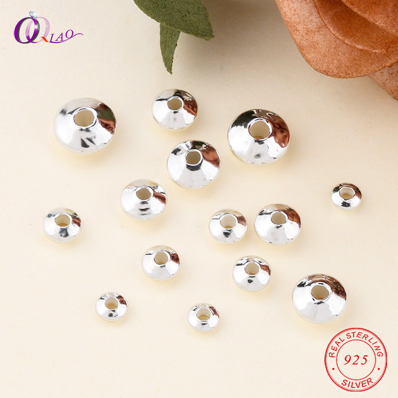 2019 NEW 925 Sterling Silver Beads Exquisite Wheel Beads Round Loose Spacer Beads For Bracelet Necklace Jewelry Making DIY