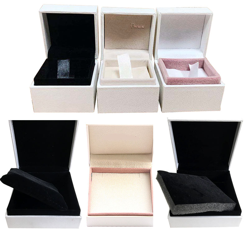 5*5*4cm 9*9*4cm Packaging Paper Box Ring Display Ring Earrings Bracelet Gift Velvet Box Compatible With Ring Earring DIY Jewelry