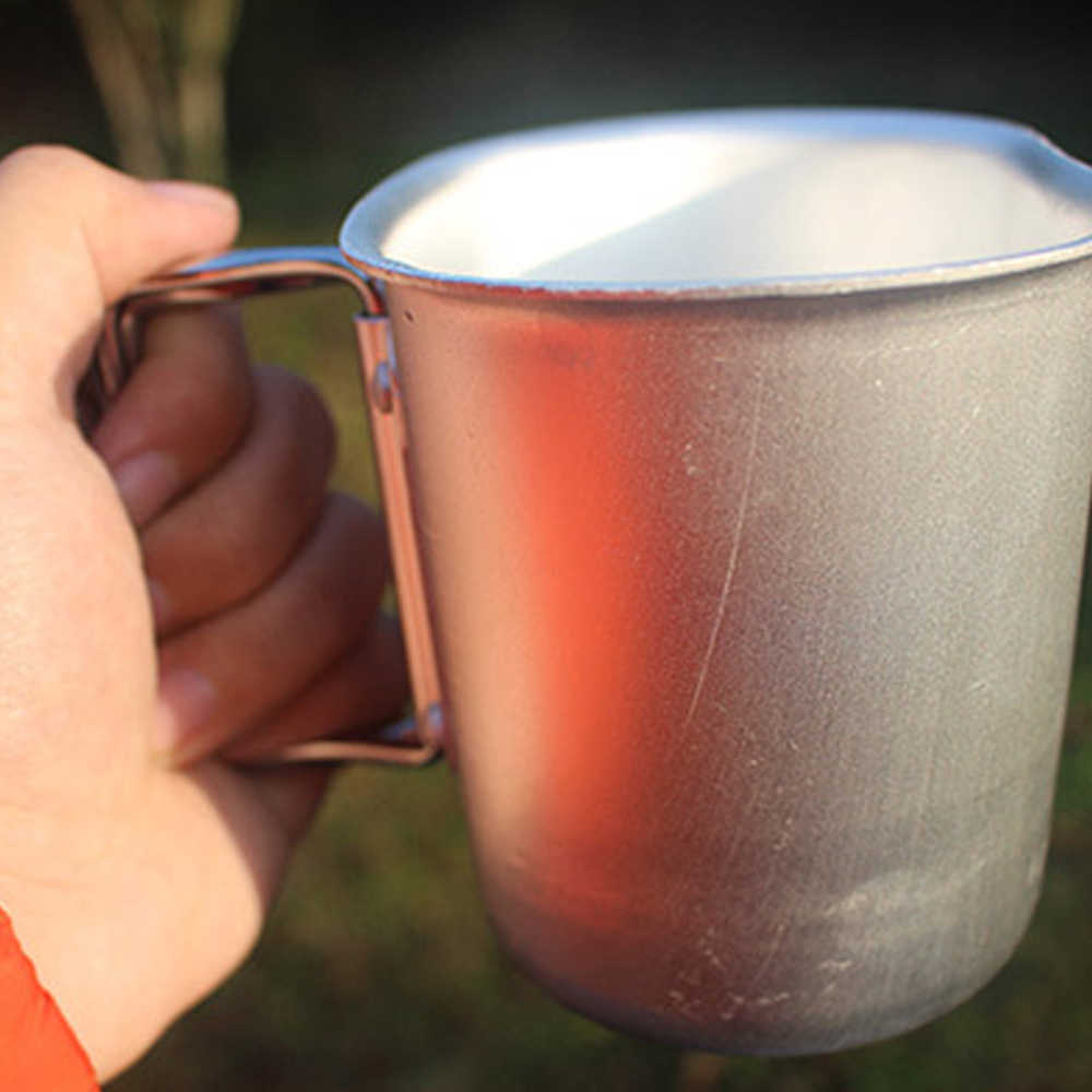 1l ao ar livre copo miltary alumínio cantina garrafa de água e náilon cantil capa caminhadas chaleira acampamento portátil
