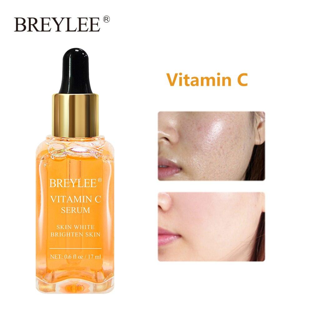 BREYLEE Face Serum Vitamin C Whitening Facial Serum Remove Dark Spots Melanin Anti-Aging Wrinkles Moisturizing Essence Skin Care