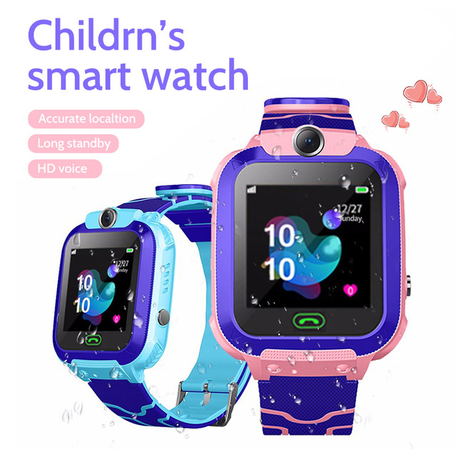 2021 kids smart watch Waterproof baby SOS Positioning 2G SIM Card Anti-lost Smartwatch children Tracker smart clock Call watch 6