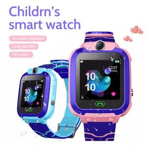 Image 5 - 2020 kids smart watch Waterproof baby SOS Positioning 2G SIM Card Anti lost Smartwatch children Tracker smart clock Call watch