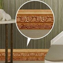 Free shipping European decorative floor line stickers self-adhesive waterproof PVC pattern baseboard