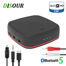 CSR8675 5.0 Bluetooth Audio Transmitter Receiver Aptx HD/LL Music Wireless Adapter RCA/3.5 MM AUX Jack Low latency For TV PC Car