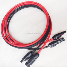 6 4 2,5 mm2 10 12 14 AWG Solar PV Kabel Anschlüsse 1Red + 1 Schwarz Solar Kupfer Draht mit male & Female Connectors Verlängerung Kabel