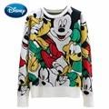 Disney Daisy Ente Goofy Mickey Maus Cartoon Druck Oansatz Pullover Streetwear Nette Frauen Pullover Strick Jumper Langarm Tops