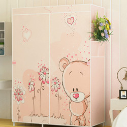 The Wardrobe Is Simple, The Wardrobe Is Stored In The Closet, The One-person Wardrobe of The Cabinet Is Assembled