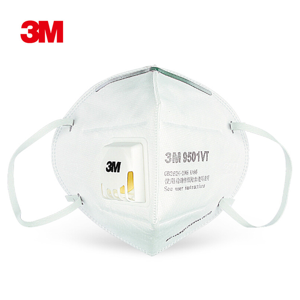 3M 9501VT 1PCS  Particulate Respirator Protective Masks Safety Mask With Valve PM2.5 Haze Fog Dustproof Mouth Mask Outdoor
