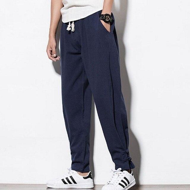 New Brand Man Clothes 2020 Autumn Male Trousers Loose Cotton Joggers Track Casual Sweatpants Winter Men Plus Velvet Pants 6