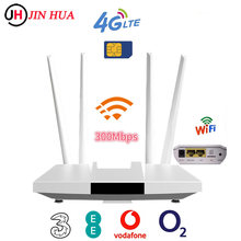 Lc113 4g lte cpe cartão sim roteador wi-fi 300m cat4 32 usuários wifi roteador rj45 wan lan interno 4g wifi roteador