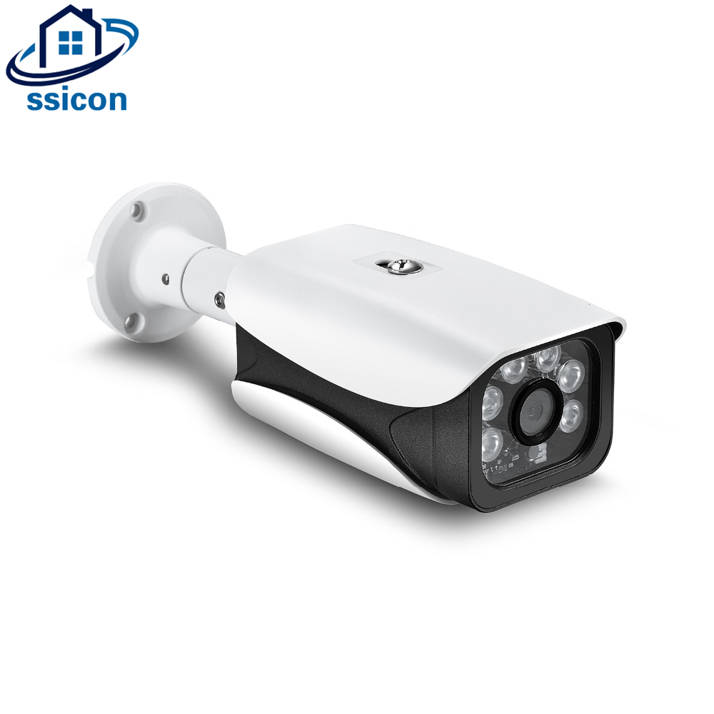 SSICON H.265 2MP POE Bullet Camera Waterpoof 3.6mm Lens IR Night Vision ONVIF Xmeye APP 1080P Outdoor Video Camera 48V POE