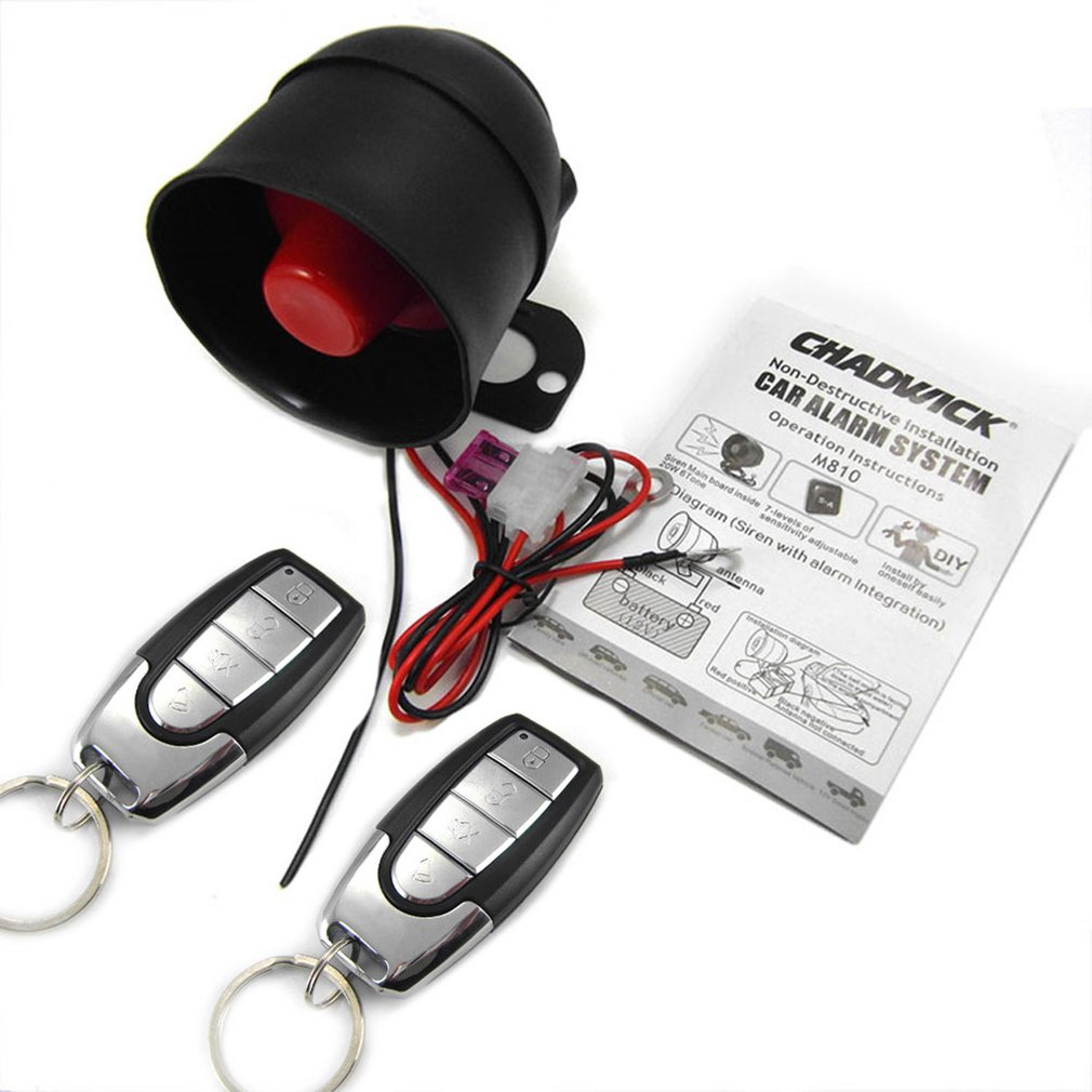 Durable Car Alarm Devices One Way Car Alarm Device Vibration Alarm System M810-8115 Lossless Assembly
