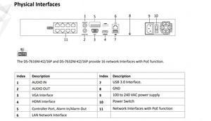 Image 5 - Hikvision 원래 nvr DS 7608NI K2/8 p 8ch poe nvr 8mp 4 k 기록 2 sata poe 카메라 보안 네트워크 비디오 레코더