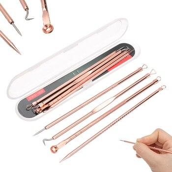 4Pcs Blackhead Remover Extractor Needles Kit For Acne Pimple Blemish Treatments Face Skin Care Set