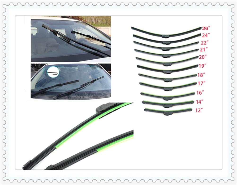 Universal Car U-shaped Soft Frameless Auto Windshield Wiper Blade Inch For Opel Astra G/gtc/j/h Corsa Antara Meriva Zafira