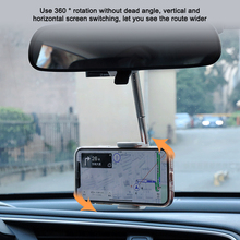 """Car Rearview Mirror Mount Phone Holder For 4.0 6.1"""" Smartphones Car Phone Holder Stand 360 Degree Rotation Adjustable Support"""