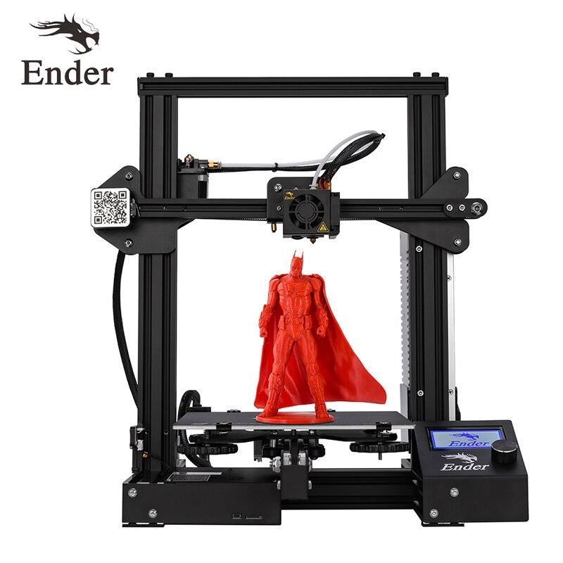 Kit DIY Impressora de novo Ender-3 3D V-slot I3 prusa Atualização Retomar o Poder Off Ender-3X Grande Tamanho de Impressão de 220*220*250 Criatividade 3D