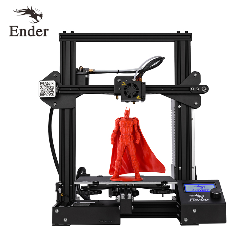 New Ender 3 3D Printer DIY Kit V slot prusa I3 Upgrade Resume Power Off Ender 3X Large Print Size 220*220*250 Creality 3D-in 3D Printers from Computer & Office