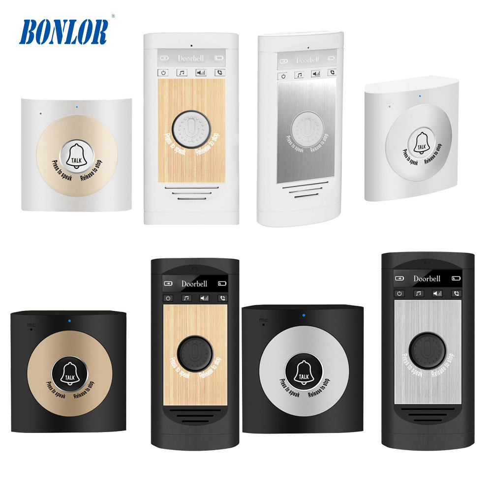 Multi Color Two Way Talk-back Wireless Voice Doorbell Waterproof Door Phone Intercom For Visitor For Free Shipping