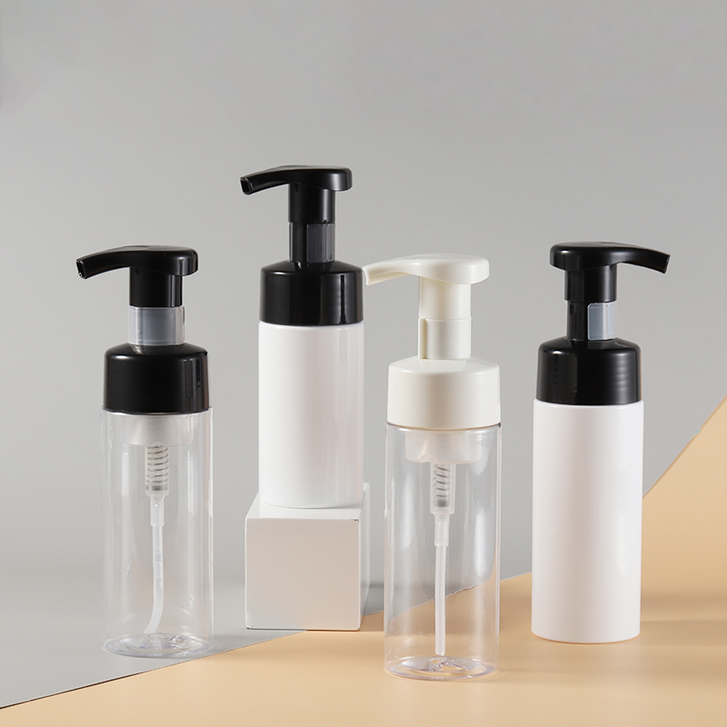 24 x 100ml 150ml Refillable PET Plastic Foaming Lotion Pump Cream Shampoo Bottles 5oz osmetic facial Cleanser wash containers