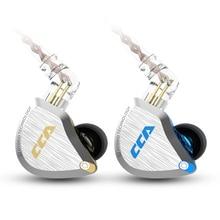 Cca fones de ouvido c12 5ba + 1dd, fones de ouvido híbridos, intra auricular, unidade de 6 drivers hi fi, monitoramento de corrida, esportes, auriculares iem fase 2pin cca c16