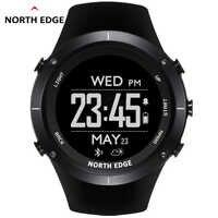 NORTH EDGE reloj Digital deportivo para hombre, GPS, ritmo cardíaco, natación, relojes, altímetro, barómetro, brújula, termómetro, podómetro