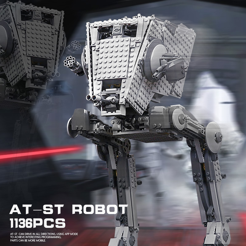 In Stock Star Wars AT ST Walker 05052 Set Building Blocks Assembling Kids Christmas Toy Gifts Compatible legoings 10174 2