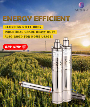 Clearance!220V Household Stainless Steel Deep Well Submersible Pump AC Power Well Pump Bore Hole Screw pump Solar Water Pump qds 8500l h portable small stainless steel submersible pump 550w big power centrifugal water pump