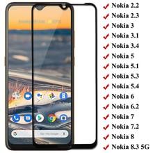 Volledige Cover Gehard Glas Voor Nokia 5.4 3.4 5.3 8.3 2.3 1.3 Screen Protector Voor Nokia 3 3.1 3.2 5 5.1 X5 6 6.1 6.2 7 7.1 7.2 8