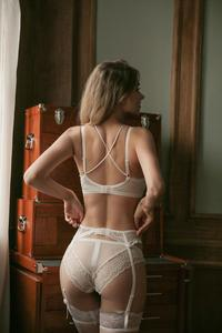 Image 2 - Women Bra Set Push Up Sexy Strappy Underwire Padded Cup 1 Bra+ 1 Panties +1 Garter Lingerie Women Set 3pcs/Lot