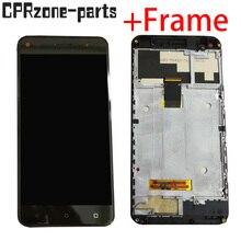 """5.0 """"siyah için çerçeve ile FLY Cirrus 4 FS507 lcd ekran ile dokunmatik ekran digitizer sensör paneli meclisi ücretsiz kargo"""