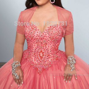 Image 3 - Charming Sweetheart Ball Gown Quinceanera Dresses Beading Crystal Sequined Tulle Debutante For Sweet 16 Years Dress