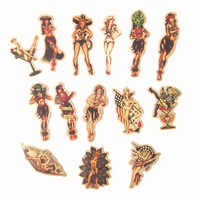 10/50pcs Europe and America Retro girl pin up girl Sticker Decoration Stationery Sticker DIY Ablum Diary Scrapbooking Sticker