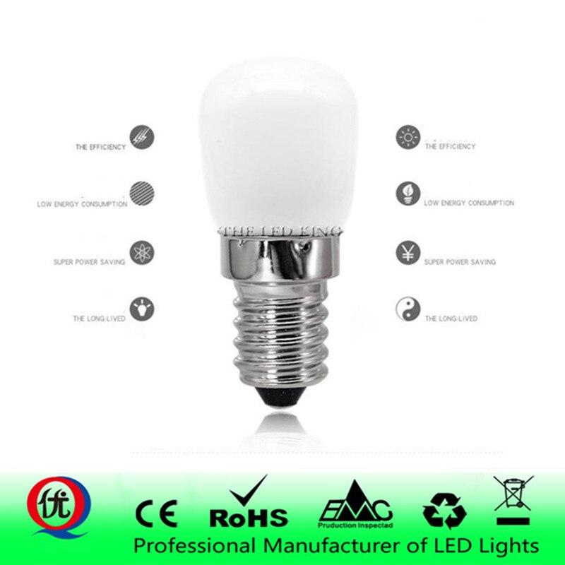 Светодиодная лампа E14 E12 COB 2835 SMD, стеклянная лампа для холодильника, холодильника, морозильной камеры, швейной машины, домашнее освещение
