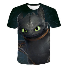 How to Train Your Dragon 3D Printed Children t shirt Summer Short Sleeve Tshirts 2019 Hot Sale Streetwear Kids Clothes Custom