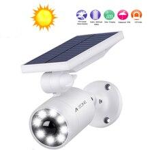 IP66 Solar Power Fake Camera Garden LED Light Induction Waterproof Garden Wall LED Light Dummy Fake Camera Simulation Monitor