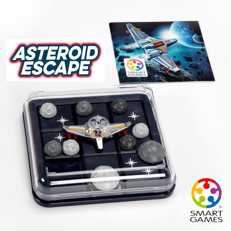 Smart Games Asteroid Escape Puzzle Game Skill-Building Brain Game - Brain Teaser For Ages 8 & Up 60 Challenges Travel-Friendly