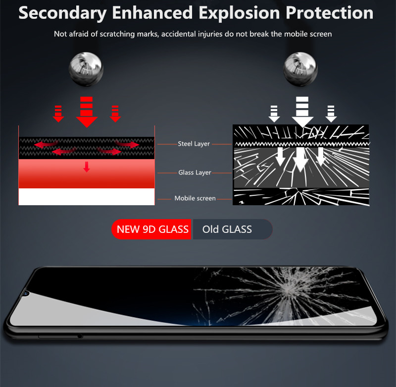 9D Curved Tempered Glass on the For Samsung Galaxy A30 A50 A10 A20e Screen Protector For Samsung M10 M20 M30 M40 A40 A60 A70 A80 in Phone Screen Protectors from Cellphones Telecommunications