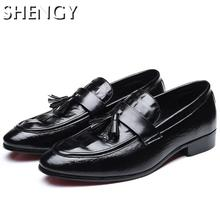 Men Shoes Leather Handmade Comfortable Men's Loafers Business Men Flat Fashion Shoes Casual Wrok