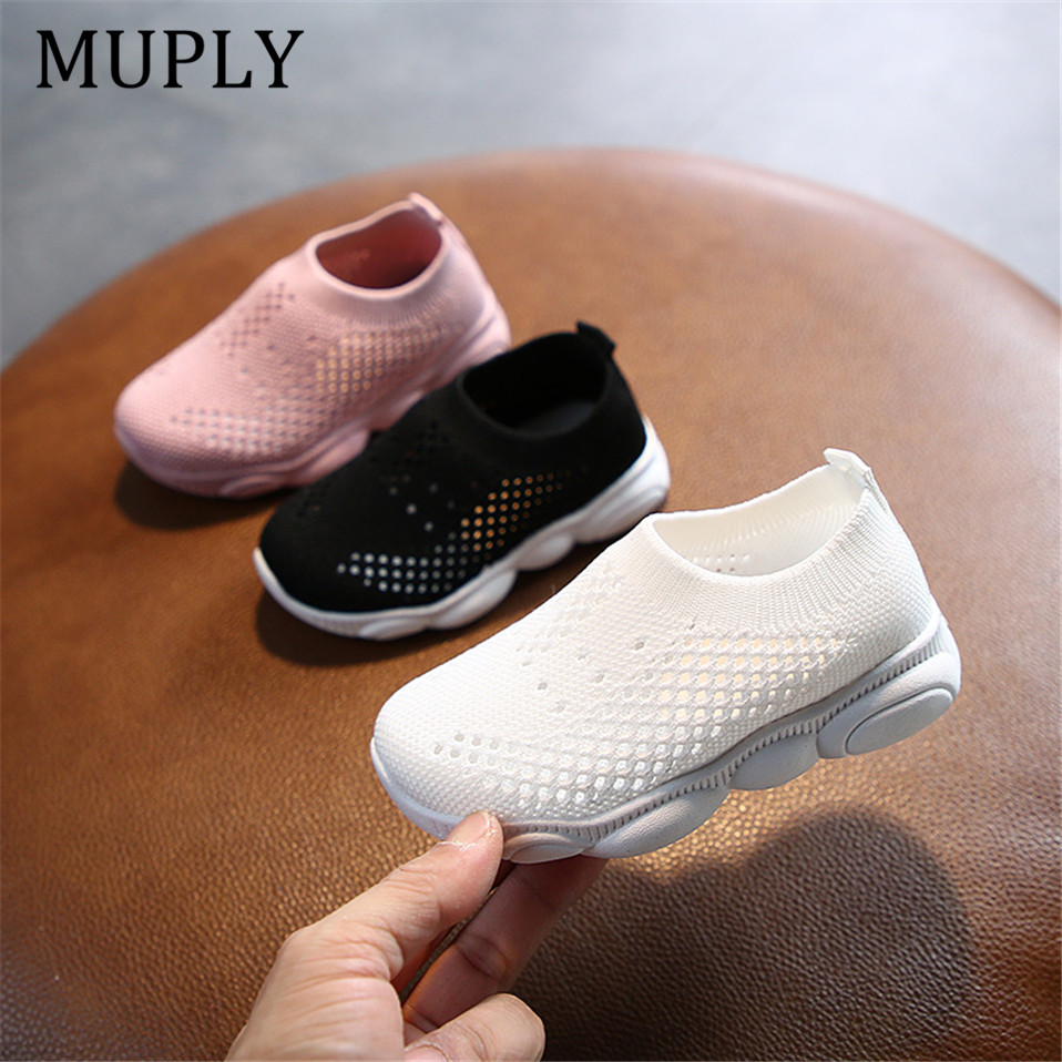 2020 Spring Autumn Children Shoes Boys Girls Sport Shoes Breathable Infant Shoes Sneakers Soft Bottom Non-slip Casual Kids Shoes