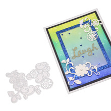 Flower Frame Set Metal Cutting Dies Stencils For DIY Scrapbooking Decorative Embossing Paper Cards Die Cutting Template 3pcs lace frame metal cutting dies stencils for diy scrapbooking decorative embossing suit paper cards die cutting template 2019
