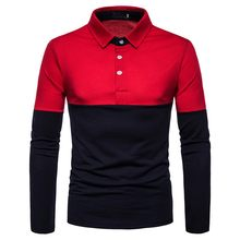 Heren Polo Shirt Merken Mannelijke Lange Mouwen Fashion Casual Slim Borduren Splice Slim Fit Polo Mannen Jerseys Camisa Polo Para hombre(China)
