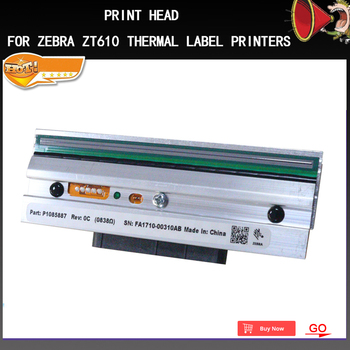 printer Thermal Original print head For Zebra ZT610 Thermal Label Printers printhead 203dpi P1083320-010 (90 days warranty)