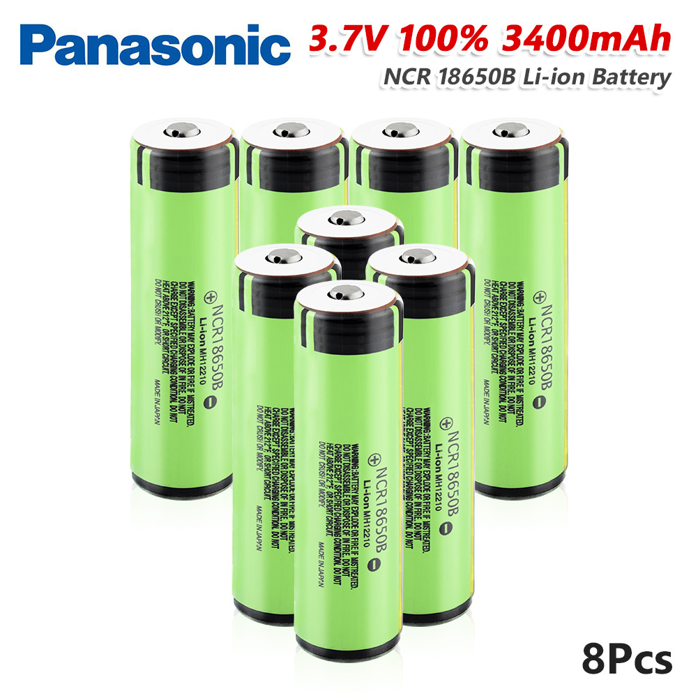 <font><b>Panasonic</b></font> 1/2/4/6/8/10x Rechargeable 3.7v <font><b>NCR18650B</b></font> Lithium Li Ion Battery 3400mAh NCR 18650B 20A Li-ion Pilas With PCB Board image
