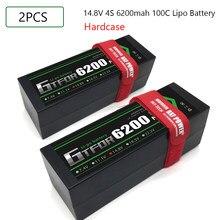 GTFDR 2PCS 3 2S S 4S Bateria Lipo 7.4V 11.1v 14.8V 15.2V 5200mAh 6200mAh 7000mAh 8000mAh 8400mAh 50C 60C 100C 110C 130C Para Carro
