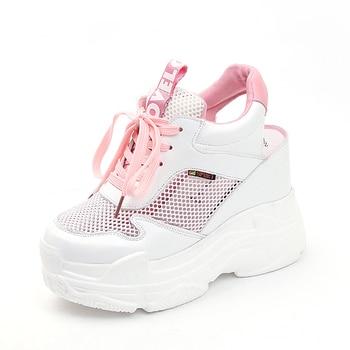2019 nueva moda Libre Mujer Encaje En Caladas Zapatillas